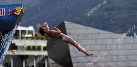 Editorial photo of Cliff Diving World Series trainings in Bilbao, Spain - 14 Sep 2019