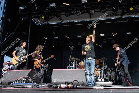 Travis Warren Rogers Stevens Christopher Thorn Nathan Town. Christopher Thorn, from left, Nathan Towne, Travis Warren, and Rogers Stevens of Blind Melon perform during KAABOO 2019 at the Del Mar Racetrack and Fairgrounds, in San Diego, Calif