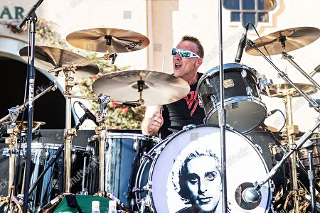 Stock Picture of Drummer Stephen Perkins performs with Chevy Metal during KAABOO 2019 at the Del Mar Racetrack and Fairgrounds, in San Diego, Calif
