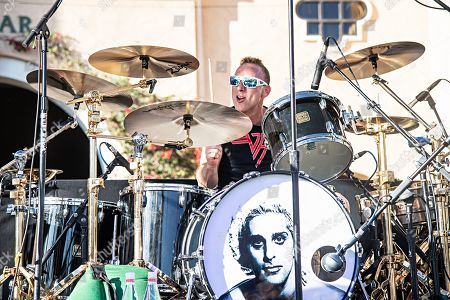 Stock Image of Drummer Stephen Perkins performs with Chevy Metal during KAABOO 2019 at the Del Mar Racetrack and Fairgrounds, in San Diego, Calif