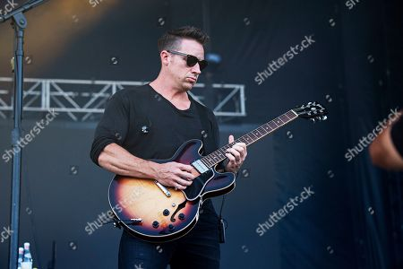 Stock Photo of Zach Filkins of OneRepublic performs during KAABOO 2019 at the Del Mar Racetrack and Fairgrounds, in San Diego, Calif