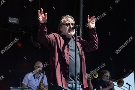 John Lyon of Southside Johnny and the Asbury Jukes performs during KAABOO 2019 at the Del Mar Racetrack and Fairgrounds, in San Diego, Calif