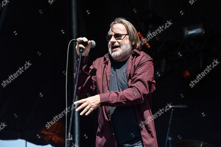 Stock Picture of John Lyon of Southside Johnny and the Asbury Jukes performs during KAABOO 2019 at the Del Mar Racetrack and Fairgrounds, in San Diego, Calif