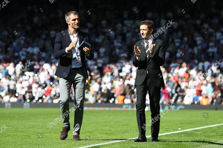 Stock Image of Commercial and marketing - Aaron Hughes inducted into Forever Fulham by CEO Alistair Mackintosh