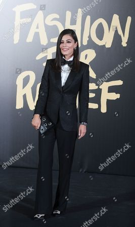 Italian actress, Alessandra Mastronardi on the red carpet of the 'Fashion For Relief' charity gala during London Fashion Week, in London, Britain, 14 September 2019. Spring/summer 2020 collections are presented at the fashion week running from 13 to 17 September.