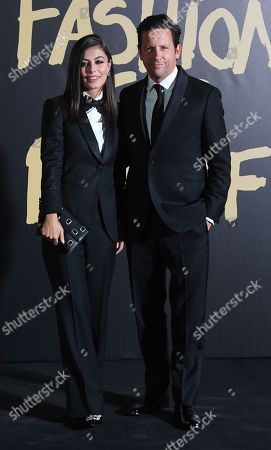 Italian actress, Alessandra Mastronardi (L) and British actor Ross McCall (R) on the red carpet of the 'Fashion For Relief' charity gala during London Fashion Week, in London, Britain, 14 September 2019. Spring/summer 2020 collections are presented at the fashion week running from 13 to 17 September.