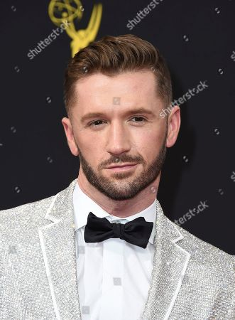 Travis Wall arrives at night one of the Television Academy's 2019 Creative Arts Emmy Awards, at the Microsoft Theater in Los Angeles
