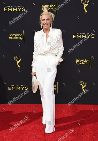 Stock Image of Marni Senofonte arrives at night one of the Television Academy's 2019 Creative Arts Emmy Awards, at the Microsoft Theater in Los Angeles