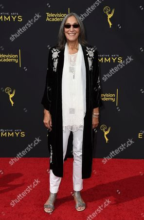 Stock Picture of Miriam Cutler arrives at night one of the Television Academy's 2019 Creative Arts Emmy Awards, at the Microsoft Theater in Los Angeles