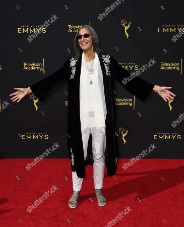 Miriam Cutler arrives at night one of the Television Academy's 2019 Creative Arts Emmy Awards, at the Microsoft Theater in Los Angeles