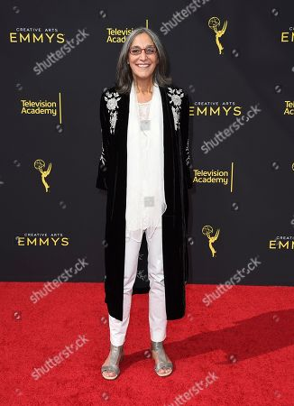 Stock Photo of Miriam Cutler arrives at night one of the Television Academy's 2019 Creative Arts Emmy Awards, at the Microsoft Theater in Los Angeles