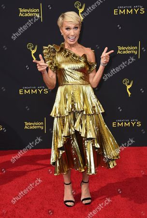 Barbara Corcoran arrives at night one of the Television Academy's 2019 Creative Arts Emmy Awards, at the Microsoft Theater in Los Angeles