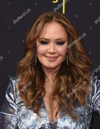 Leah Remini arrives at night one of the Television Academy's 2019 Creative Arts Emmy Awards, at the Microsoft Theater in Los Angeles
