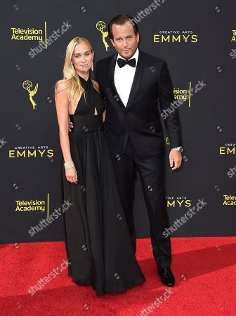Alessandra Brawn, Will Arnett. Alessandra Brawn, left, and Will Arnett arrive at night one of the Television Academy's 2019 Creative Arts Emmy Awards, at the Microsoft Theater in Los Angeles