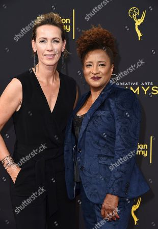 Wanda Sykes, Alex Sykes. Alex Sykes, left, Wanda Sykes arrive at night one of the Television Academy's 2019 Creative Arts Emmy Awards, at the Microsoft Theater in Los Angeles