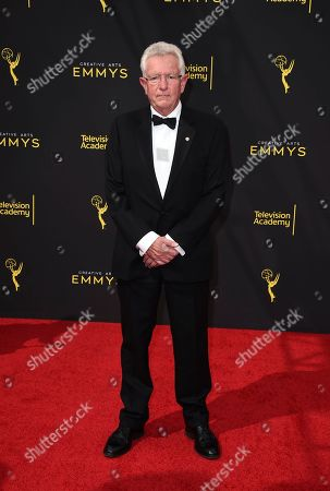 Keith Scholey arrives at night one of the Television Academy's 2019 Creative Arts Emmy Awards, at the Microsoft Theater in Los Angeles