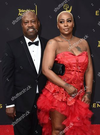 Michelle Kramer, Dwayne Carter. Michelle Kramer, right, and Dwayne Carter arrive at night one of the Television Academy's 2019 Creative Arts Emmy Awards, at the Microsoft Theater in Los Angeles