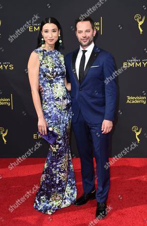 Lily Kwong, Nick Kroll. Lily Kwong, left, and Nick Kroll arrive at night one of the Television Academy's 2019 Creative Arts Emmy Awards, at the Microsoft Theater in Los Angeles