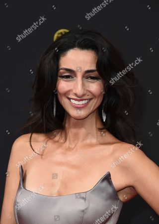 Necar Zadegan arrives at night one of the Television Academy's 2019 Creative Arts Emmy Awards, at the Microsoft Theater in Los Angeles