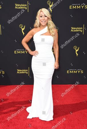 Stock Image of Lori Greiner arrives at night one of the Television Academy's 2019 Creative Arts Emmy Awards, at the Microsoft Theater in Los Angeles