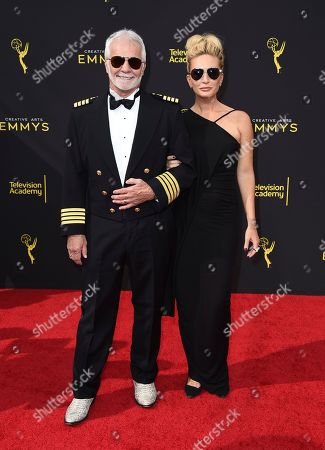 Captain Lee Rosbach, Kate Chastain. Captain Lee Rosbach, left, and Kate Chastain arrive at night one of the Television Academy's 2019 Creative Arts Emmy Awards, at the Microsoft Theater in Los Angeles
