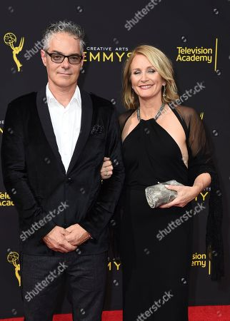 Marco Beltrami, Jill Beltrami. Marco Beltrami, left, and Jill Beltrami arrive at night one of the Television Academy's 2019 Creative Arts Emmy Awards, at the Microsoft Theater in Los Angeles