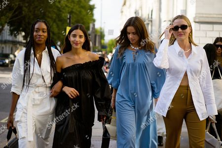 Chrissy Rutherford, Bettina Looney, Florrie Thomas and guest