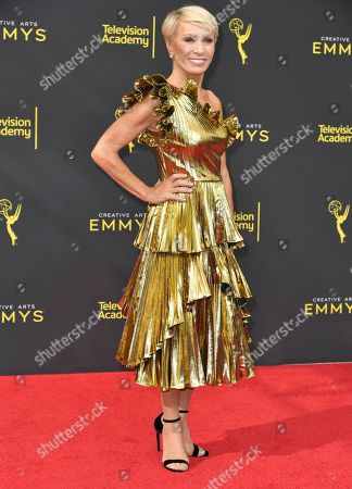 Barbara Corcoran arrives at night one of the Creative Arts Emmy Awards, at the Microsoft Theater in Los Angeles