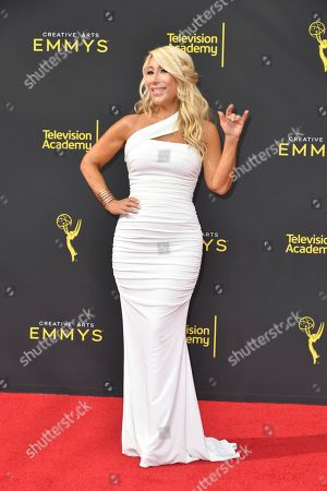 Stock Picture of Lori Greiner arrives at night one of the Creative Arts Emmy Awards, at the Microsoft Theater in Los Angeles