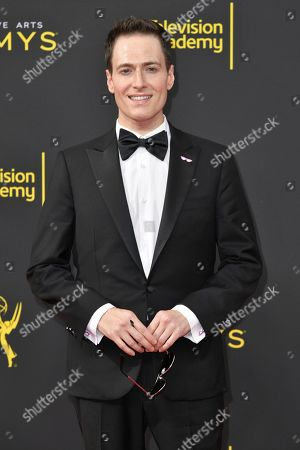 Stock Photo of Randy Rainbow arrives at night one of the Creative Arts Emmy Awards, at the Microsoft Theater in Los Angeles