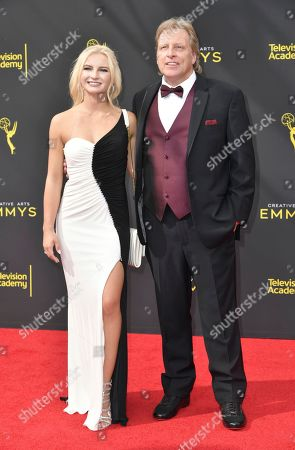 Mandy Hansen, Sig Hansen. Mandy Hansen, left, and Sig Hansen arrive at night one of the Creative Arts Emmy Awards, at the Microsoft Theater in Los Angeles
