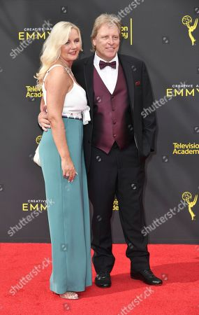 June Hansen, Sig Hansen. June Hansen, left, and Sig Hansen arrive at night one of the Creative Arts Emmy Awards, at the Microsoft Theater in Los Angeles