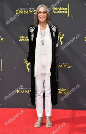 Miriam Cutler arrives at night one of the Creative Arts Emmy Awards, at the Microsoft Theater in Los Angeles