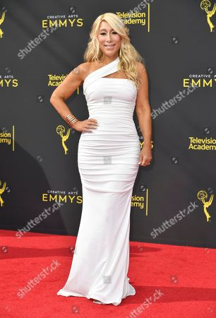 Lori Greiner arrives at night one of the Creative Arts Emmy Awards, at the Microsoft Theater in Los Angeles