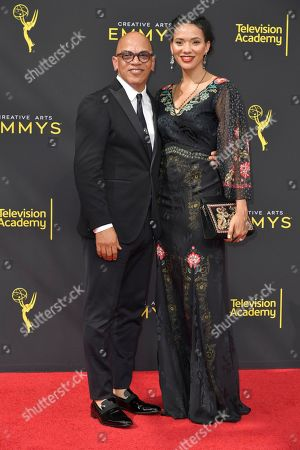 Rickey Minor, Karen Minor. Rickey Minor, left, and Karen Minor arrive at night one of the Creative Arts Emmy Awards, at the Microsoft Theater in Los Angeles