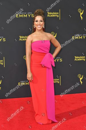 Robin Thede arrives at night one of the Creative Arts Emmy Awards, at the Microsoft Theater in Los Angeles