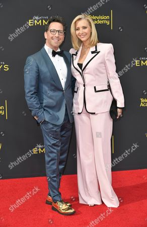 Dan Bucatinsky, Lisa Kudrow. Dan Bucatinsky, left, and Lisa Kudrow arrive at night one of the Creative Arts Emmy Awards, at the Microsoft Theater in Los Angeles