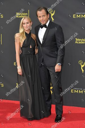 Alessandra Brawn, WIll Arnett. Alessandra Brawn, left, and WIll Arnett arrive at night one of the Creative Arts Emmy Awards, at the Microsoft Theater in Los Angeles