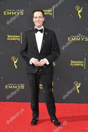 Randy Rainbow arrives at night one of the Creative Arts Emmy Awards, at the Microsoft Theater in Los Angeles