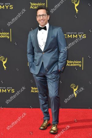 Dan Bucatinsky arrives at night one of the Creative Arts Emmy Awards, at the Microsoft Theater in Los Angeles