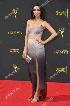 Necar Zadegan arrives at night one of the Creative Arts Emmy Awards, at the Microsoft Theater in Los Angeles