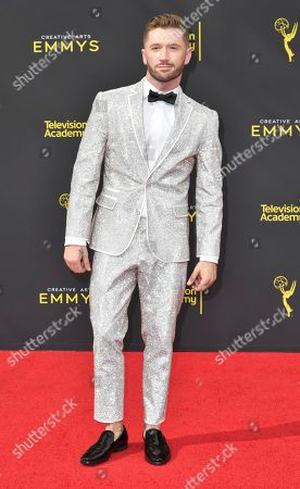 Travis Wall arrives at night one of the Creative Arts Emmy Awards, at the Microsoft Theater in Los Angeles