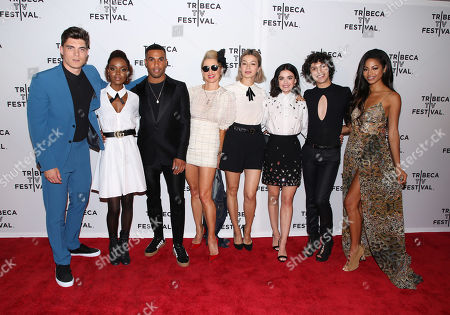 Stock Photo of Zane Holtz, Ashleigh Murray, Lucien Laviscount, Katherine LaNasa, Julia Chan, Lucy Hale, Jonny Beauchamp and Camille Hyde