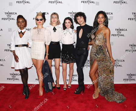 Stock Picture of Ashleigh Murray, Katherine LaNasa, Julia Chan, Lucy Hale, Jonny Beauchamp and Camille Hyde