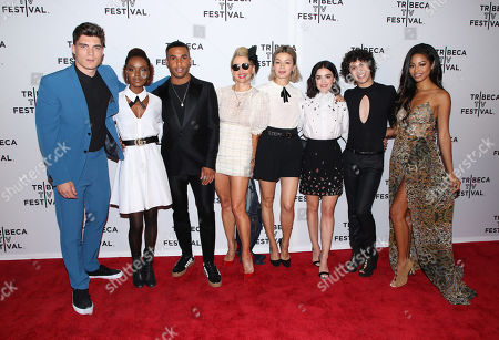 Stock Image of Zane Holtz, Ashleigh Murray, Lucien Laviscount, Katherine LaNasa, Julia Chan, Lucy Hale, Jonny Beauchamp and Camille Hyde