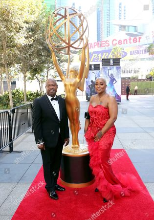 Dwayne Carter, Michelle Kramer. Dwayne Carter, left, and Michelle Kramer arrive at night one of the Television Academy's 2019 Creative Arts Emmy Awards, at the Microsoft Theater in Los Angeles