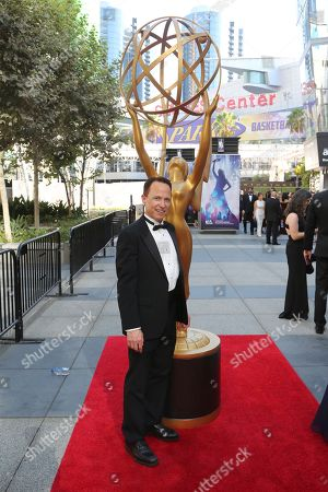 "Stock Picture of Roger Nygard from ""Who is America"" arrives at night one of the Television Academy's 2019 Creative Arts Emmy Awards, at the Microsoft Theater in Los Angeles"