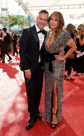 Raj Kapoor, Carrie Ann Inaba. Raj Kapoor, left, and Carrie Ann Inaba arrive at night one of the Television Academy's 2019 Creative Arts Emmy Awards, at the Microsoft Theater in Los Angeles