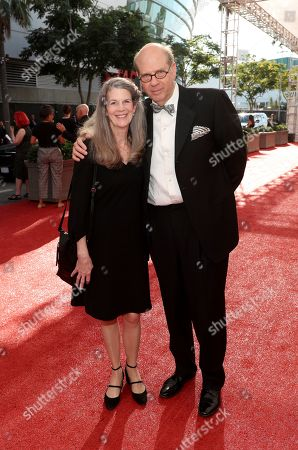 Ann Hearn, Stephen Tobolowsky. Ann Hearn, left, and Stephen Tobolowsky arrive at night one of the Television Academy's 2019 Creative Arts Emmy Awards, at the Microsoft Theater in Los Angeles