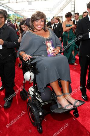 Abby Lee Miller arrives at night one of the Television Academy's 2019 Creative Arts Emmy Awards, at the Microsoft Theater in Los Angeles